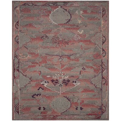 Harrelson Hand-Tufted Red Area Rug Rug Size: Rectangle 8 x 10