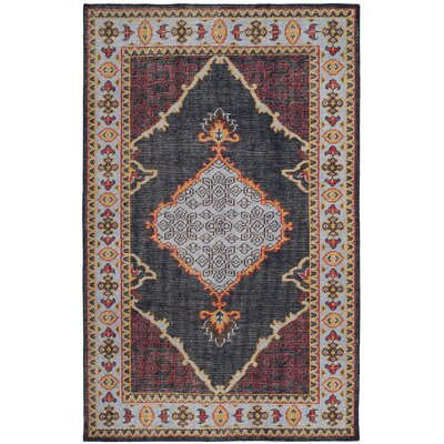 Hargrave Hand-Knotted Blue/Red Area Rug Rug Size: Rectangle 5 x 8