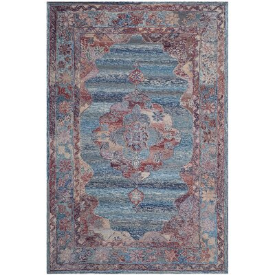 Emily Hand-Tufted Blue Area Rug Rug Size: Rectangle 6 x 9