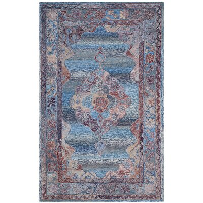 Emily Hand-Tufted Blue Area Rug Rug Size: Rectangle 5 x 8