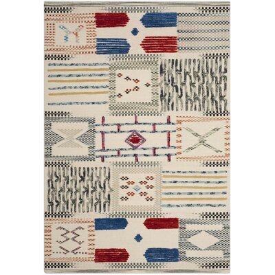 Glenoe Hand-Woven Ivory Area Rug Rug Size: Rectangle 5 x 8