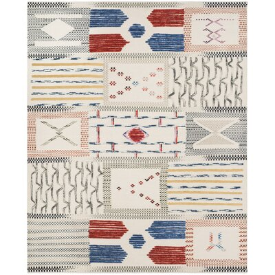 Glenoe Hand-Woven Ivory Area Rug Rug Size: Rectangle 8 x 10