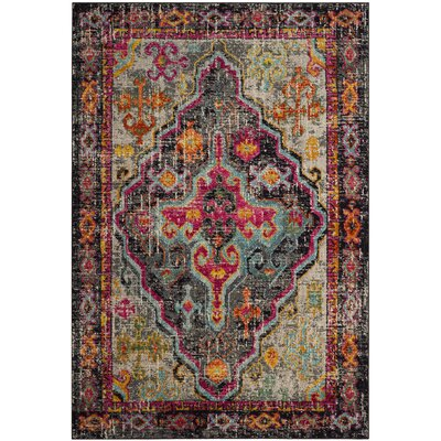 Halton Gray/Fuchsia Area Rug Rug Size: Rectangle 51 x 77