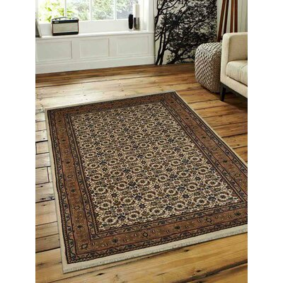 Marathon Hand-Woven Wool Cream Area Rug Rug Size: Rectangle 10 x 13