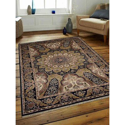 Marathon Hand-Woven Wool Blue Area Rug Rug Size: Rectangle�64 x 97