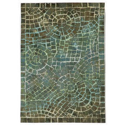 Alline Arch Tile Blue Area Rug Rug Size: Rectangle 2 x 3