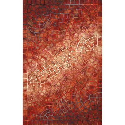 Alline Arch Tile Red Indoor/Outdoor Area Rug Rug Size: Rectangle 36 x 56