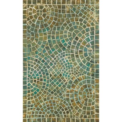 Alline Arch Tile Blue Area Rug Rug Size: Rectangle 36 x 56