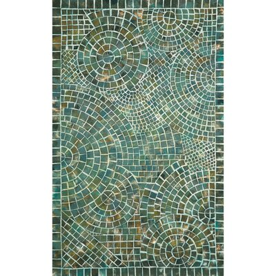 Alline Arch Tile Blue Area Rug Rug Size: Rectangle 5 x 8