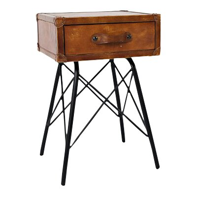 Romeo Leather End Table