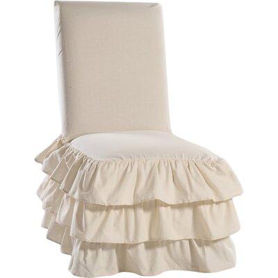 Parson Chair Skirted Slipcover Upholstery: Natural