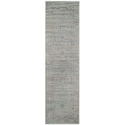 Emily Traditional Light Blue Area Rug Rug Size: Runner 22 x 8