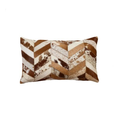 Graham Leather Lumbar Pillow Color: Brown/Natural