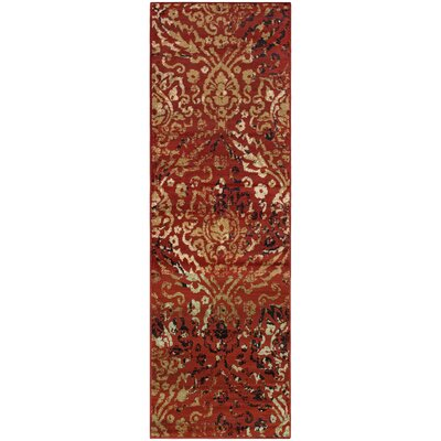Goshen Red Area Rug Rug Size: Runner 27 x 8