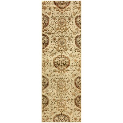 Goshen Contemporary Gold Area Rug Rug Size: Runner 27 x 8