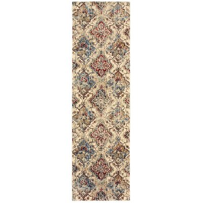Quenby Ivory/Gold Area Rug Rug Size: Runner 23 x 76