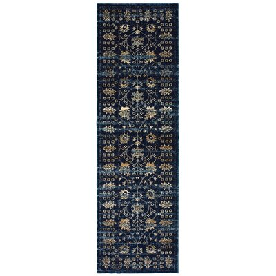 Quenby Navy/Ivory Area Rug Rug Size: Runner 23 x 76