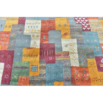 Rolling Hills Estates Rustic Yellow/Red/Blue Area Rug Rug Size: Rectangle 55 x 8