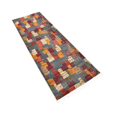 Rolling Hills Estates Rustic Yellow/Red/Blue Area Rug Rug Size: Runner 22 x 6