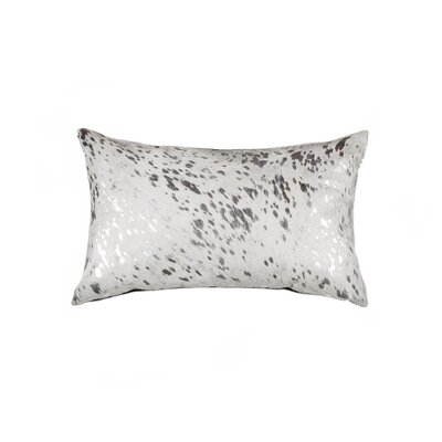 Graham Leather Lumbar Pillow Color: Silver/Gray
