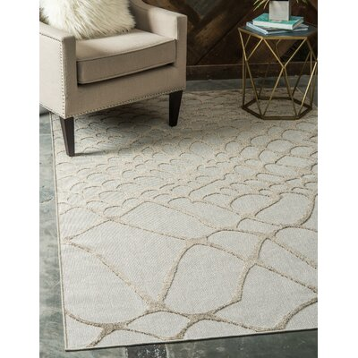Jessie Cream Indoor/Outdoor Area Rug Rug Size: Rectangle 6 x 9