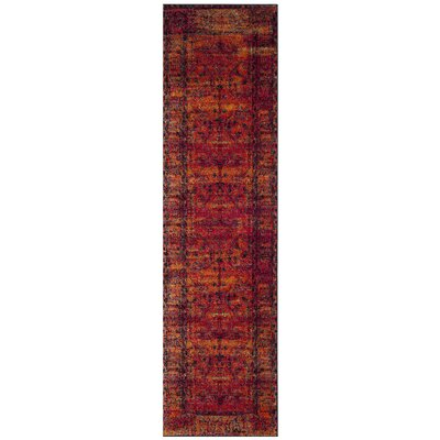 Valenzuela Orange Area Rug Rug Size: Runner 22 x 6