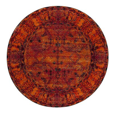 Valenzuela Orange Area Rug Rug Size: Round 67 x 67