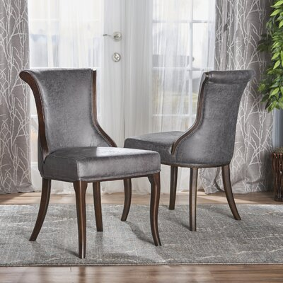 Glenhaven Upholstered Dining Chair Color: Slate