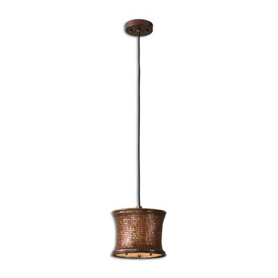 Lisandra 1-Light Mini Pendant Color: Copper