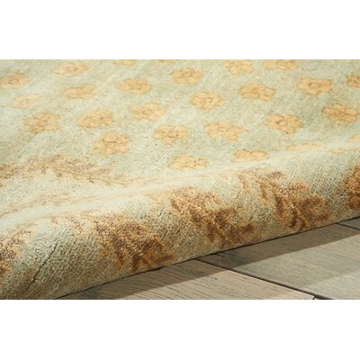 Geil Hand-Knotted Gold Area Rug