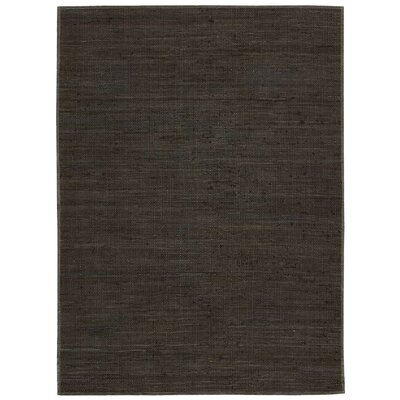 Santos Hand-Woven Espresso Area Rug Rug Size: Rectangle 53 x 75