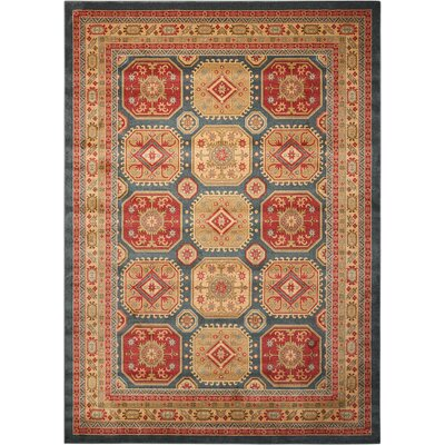 Garney Gold/Red Area Rug Rug Size: Rectangle 710 x 1010