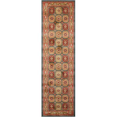 Garney Gold/Red Area Rug Rug Size: Runner 22 x 76