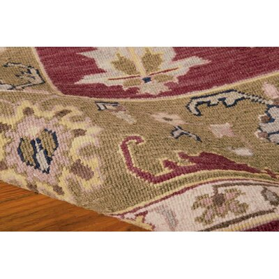 Prescot Hand-Woven Burgundy Area Rug Rug Size: Rectangle 910 X 1310