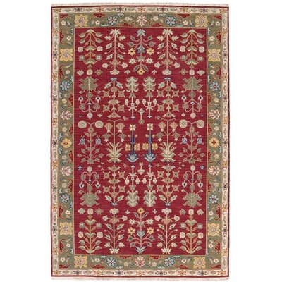 Prescot Hand-Woven Burgundy Area Rug Rug Size: Rectangle 510 X 810