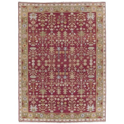 Prescot Hand-Woven Burgundy Area Rug Rug Size: Rectangle 810 X 1110