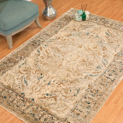 Randers Taupe Area Rug Rug Size: 53 x 72