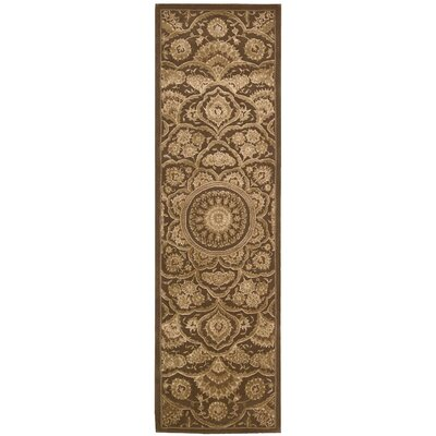Riggs Hand-Woven Chocolate Area Rug Rug Size: Runner 23 x 8