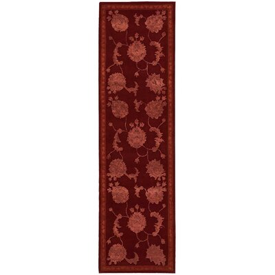 Riggs Hand-Woven Garnet Area Rug Rug Size: Runner 23 x 8