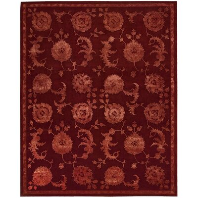Riggs Hand-Woven Garnet Area Rug Rug Size: Rectangle 56 x 86