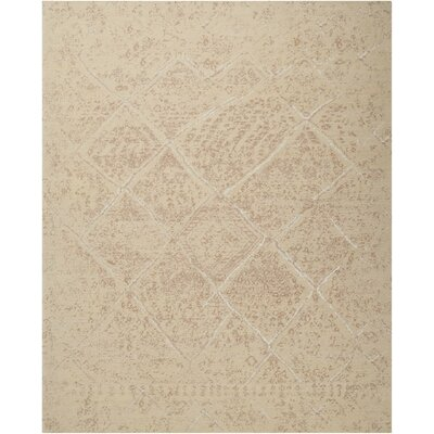 Soualem Geometric Gray/Ivory Area Rug Rug Size: Rectangle 79 x 99