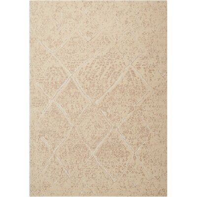 Soualem Geometric Gray/Ivory Area Rug Rug Size: Rectangle 56 x 8