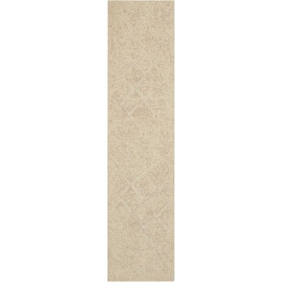 Soualem Geometric Gray/Ivory Area Rug Rug Size: Rectangle 25 x 10