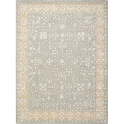 Veda Hand-Tufted Blue Mist Area Rug Rug Size: Rectangle 5'6