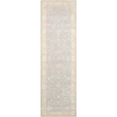 Veda Hand-Tufted Blue Mist Area Rug Rug Size: Runner 23 x 8