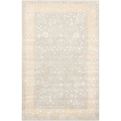 Veda Hand-Tufted Blue Mist Area Rug Rug Size: Rectangle 36 x 56
