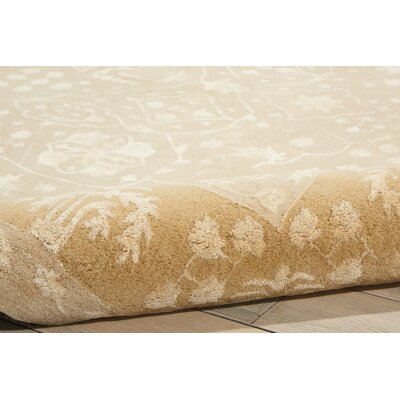 Veda Hand-Tufted Gold Oak Area Rug Rug Size: Rectangle 96 x 13