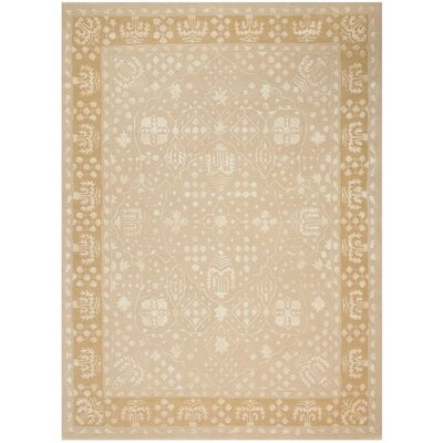 Veda Hand-Tufted Gold Oak Area Rug Rug Size: Rectangle 56 x 75