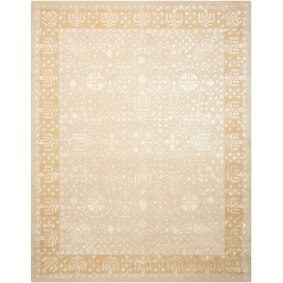 Veda Hand-Tufted Gold Oak Area Rug Rug Size: Rectangle 76 x 96