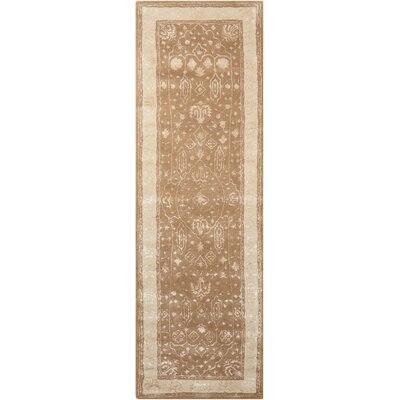 Veda Hand-Tufted Warm Taupe Area Rug Rug Size: Runner 23 x 8
